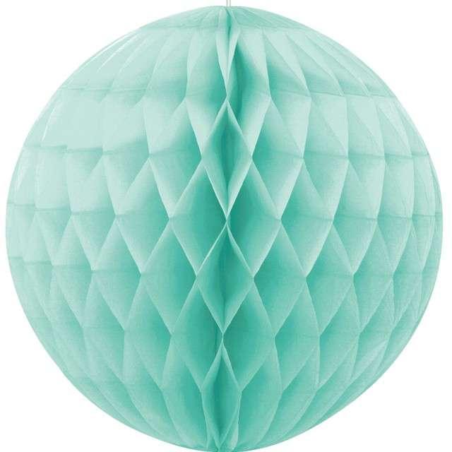 _xx_Rozeta kula dekoracyjna piłka, miętowa, wys. 20 cm