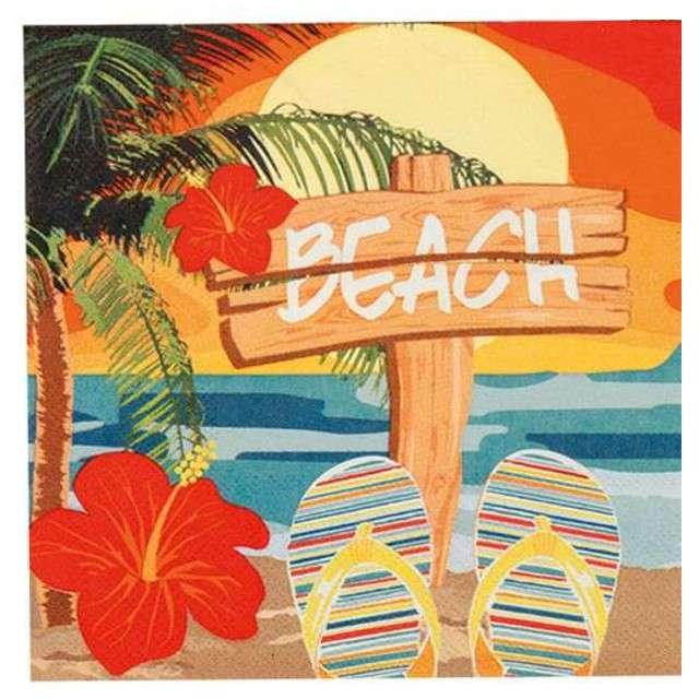 """Serwetki """"Hawajska plaża"""", Boland, 33 cm, 12 szt"""
