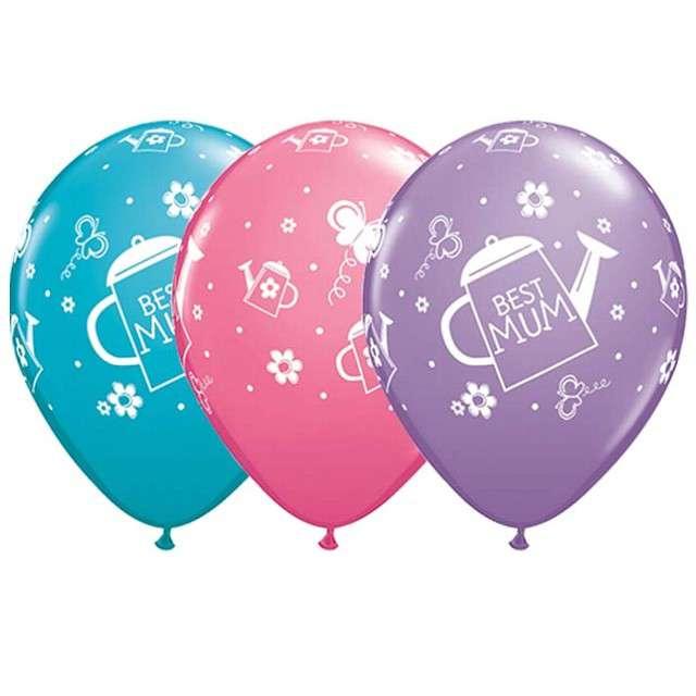 "Balony ""Najlepsza mama"", mix pastel, Qualatex, 11"", 25 szt"
