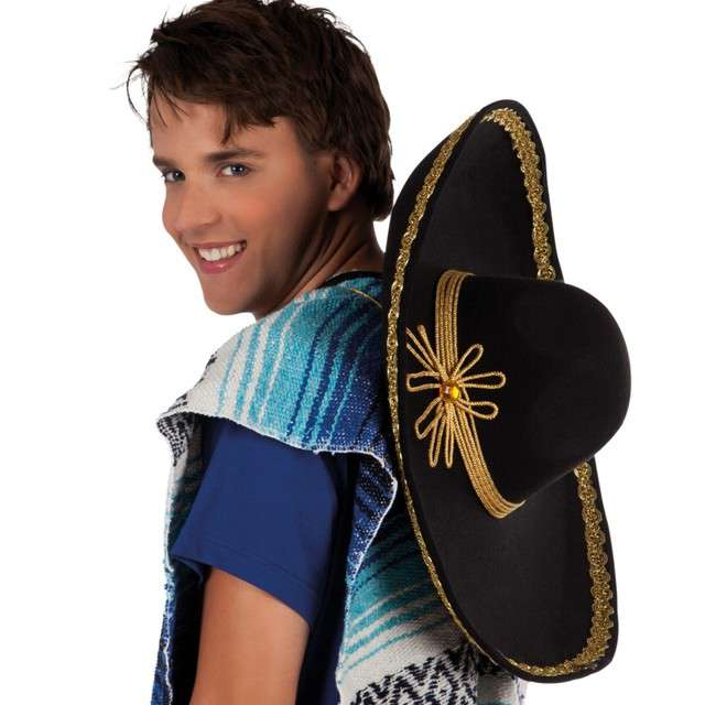 Kapelusz Sombrero ze złotem czarny Boland