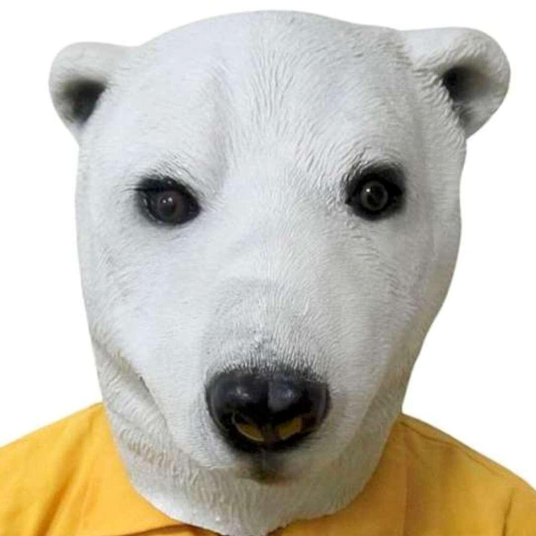 "Maska ""Miś Polarny"", lateksowa, GadgetMaster"