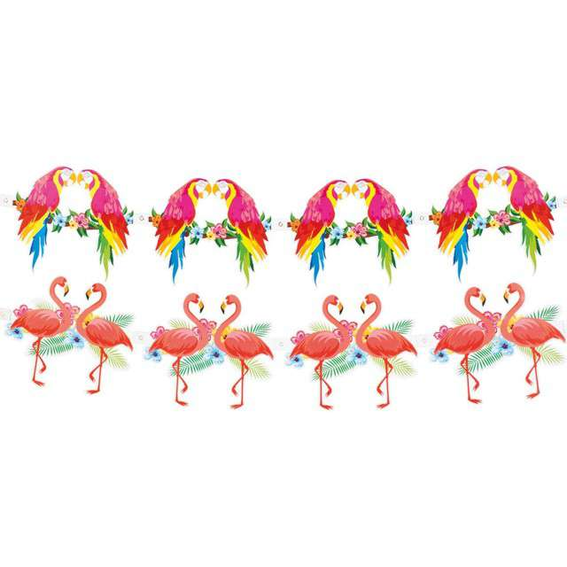 Baner Hibiscus - Papuga i Flaming Boland 3 m