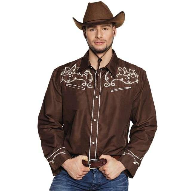"Koszula ""Kowbojska Elegancka"", brązowa, Boland, rozm. L"