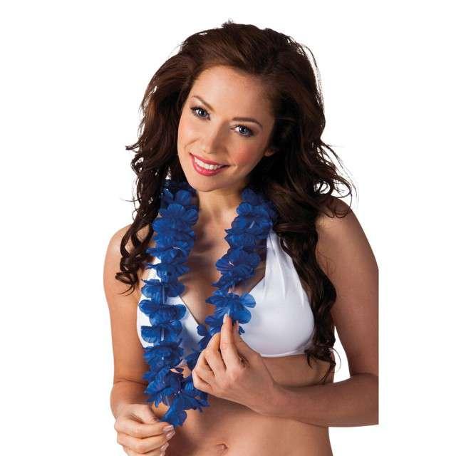 """Naszyjnik Hawajski """"Aloha Ohana"""", niebieski, Boland, 100 cm"""