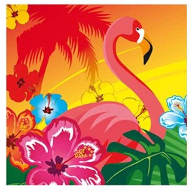 "Serwetki papierowe ""Flaming i hibiskus"", Boland, 33 cm, 12 szt"