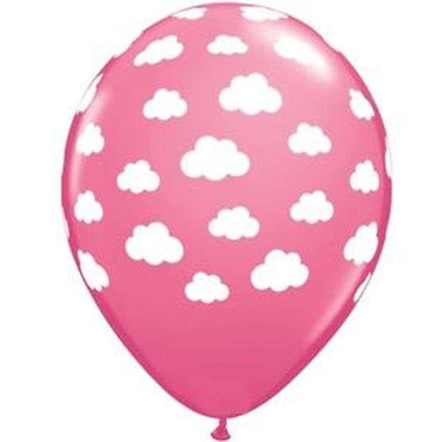 """Balony """"Chmurki"""", różowe, Qualatex, 11"""", 25 szt"""