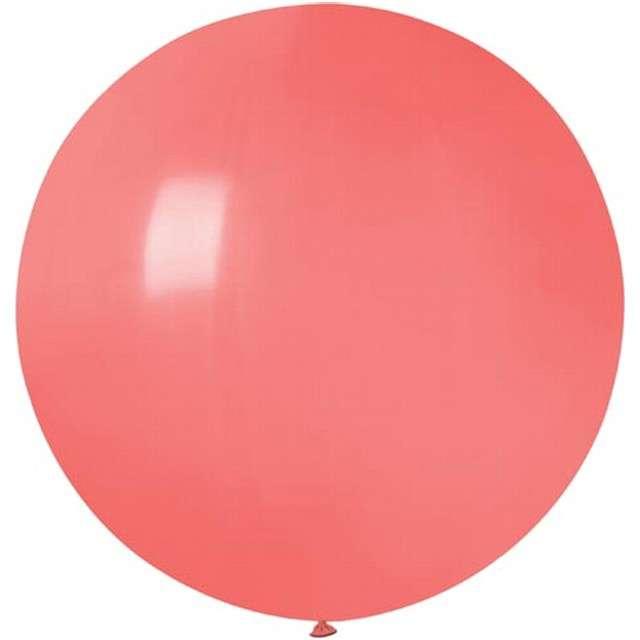 """Balon """"Olbrzym"""", koralowy pastel, Gemar, 75 cm"""