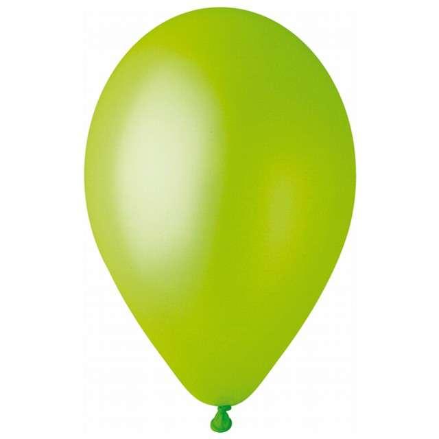 """Balony """"Metallic"""", pistacjowe, Gemar, 12"""", 100 szt"""