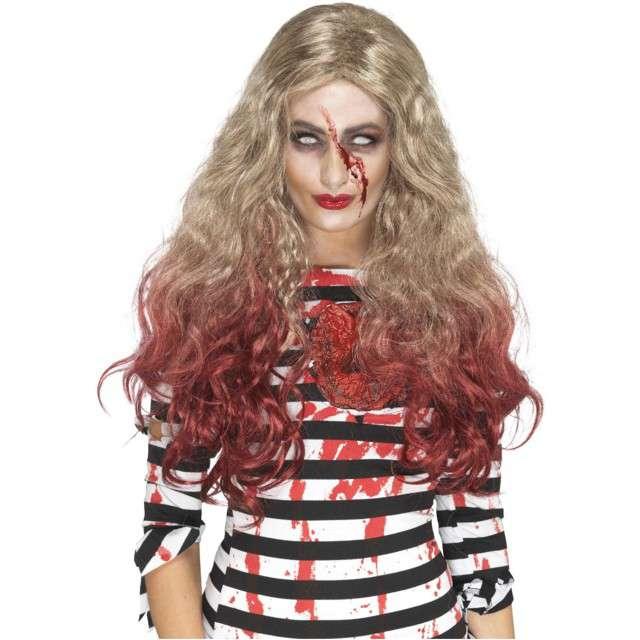 """Peruka party """"Zombie blondyna"""", blond, Smiffys"""