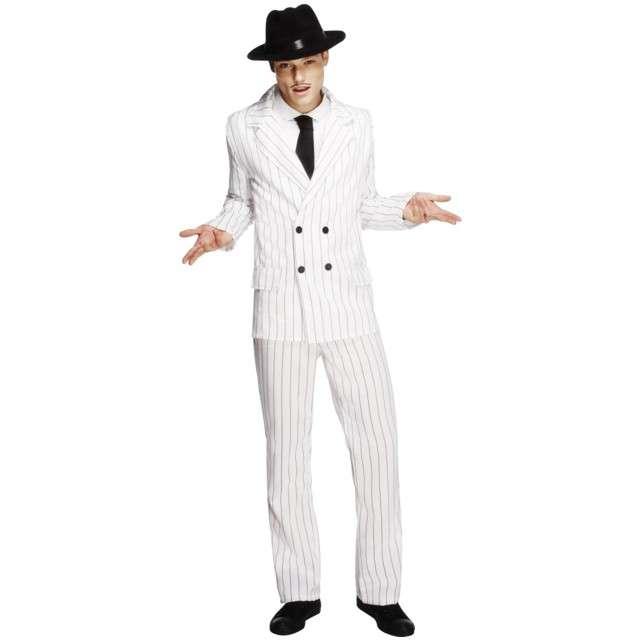 """Strój """"Włoski mafiozo"""", biały, Smiffys, rozm. S"""