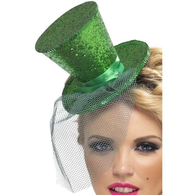 Opaska party Mini kapelusik zielona Smiffys
