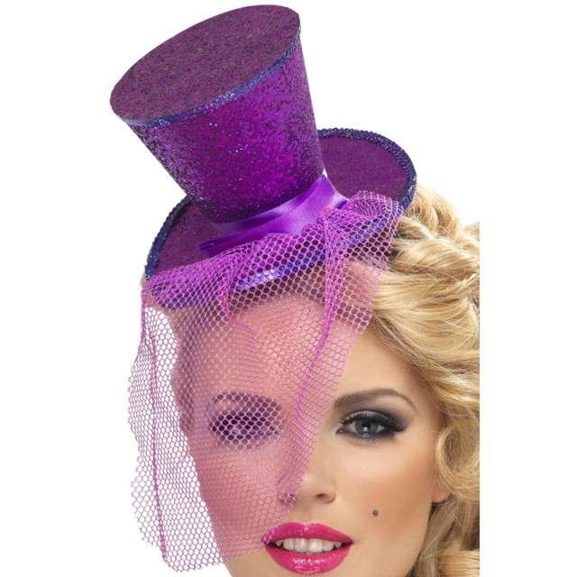 Opaska party Mini kapelusik fioletowa Smiffys