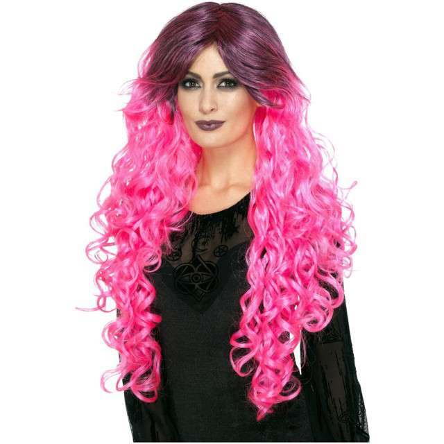 Peruka party Gothic Glamour różowa Smiffys