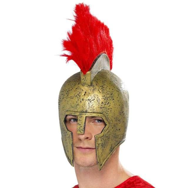 Hełm Rzymianin z pióropuszem złoty Smiffys