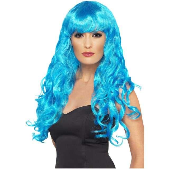 "Peruka party ""Syrena"", niebieska, Smiffys"