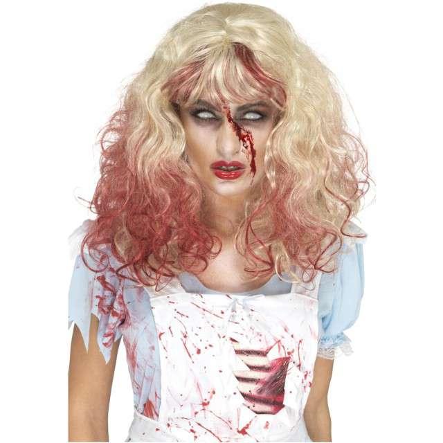 Peruka party Zombie Krwawa Alicja brązowa Smiffys