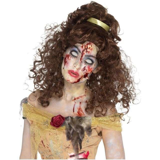 """Peruka party """"Zombie księżniczka"""", brązowa, Smiffys"""