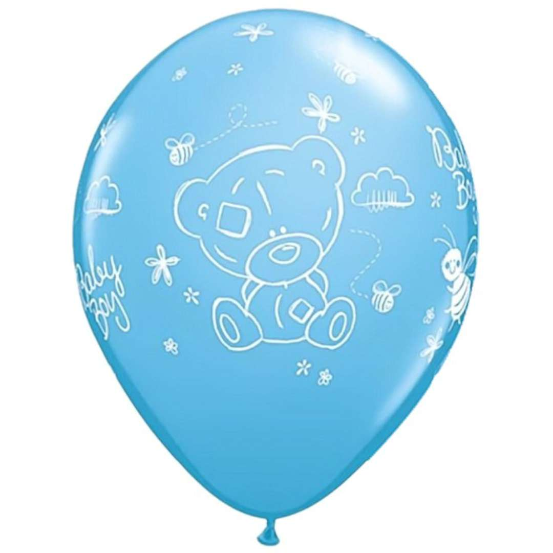 "Balony ""Tatty Baby Boy"", niebieskie, Qualatex, 11"", 25 szt"