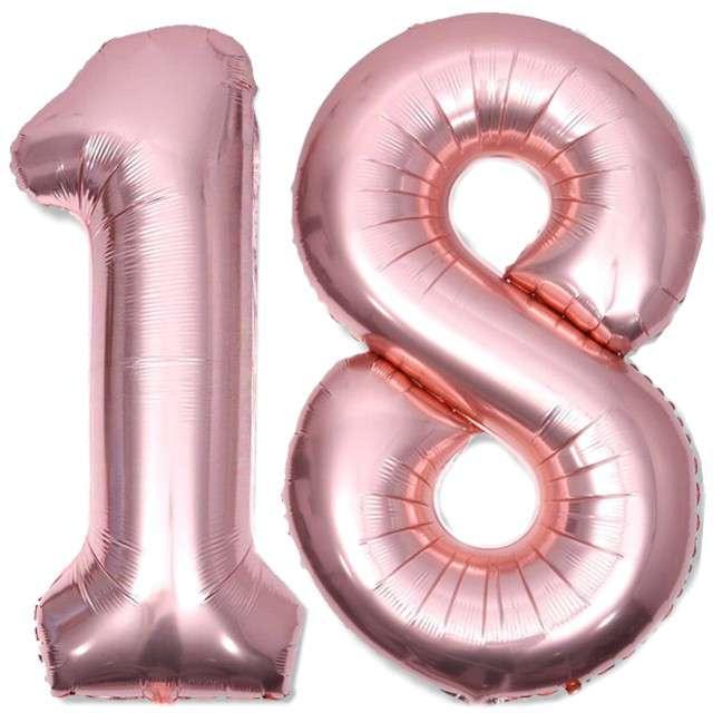 Balony foliowe Liczba 18 różowe złoto  DekoracjePolska 39