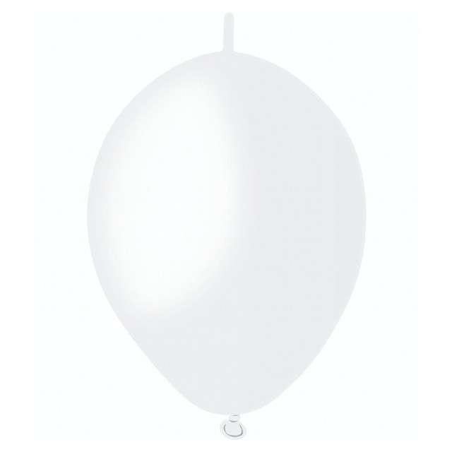 Balony Pastelowe do girland biały GEMAR 6 100szt