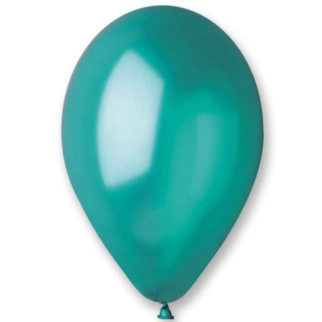 _xx_Balon GM90 metal 10 - zielony turkus / 100 szt