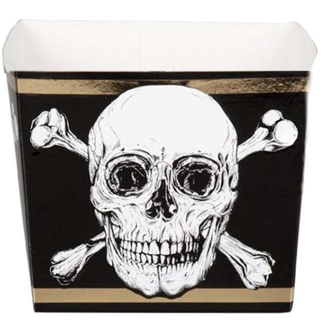 "Pudełka na popcorn ""Piracka czaszka"", BOLAND, 400 ml, 6 szt"