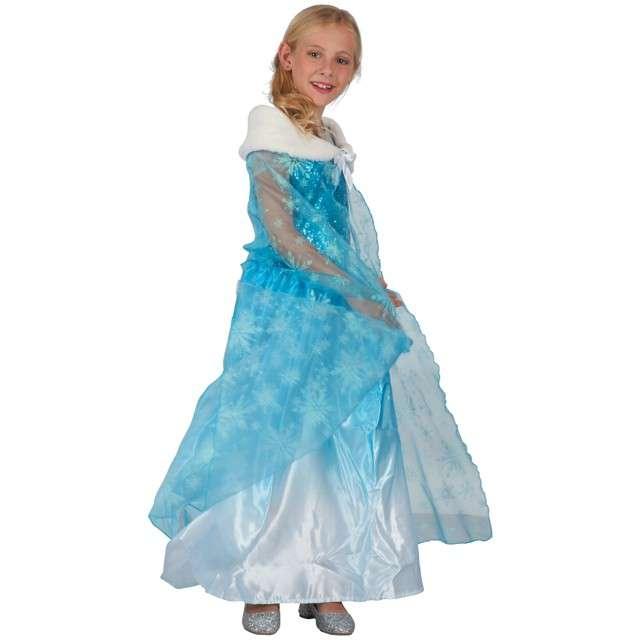 _xx_Peleryna dla dzieci Błękitna Księżniczka (peleryna z kołnierzem) rozm. 120/130 cm