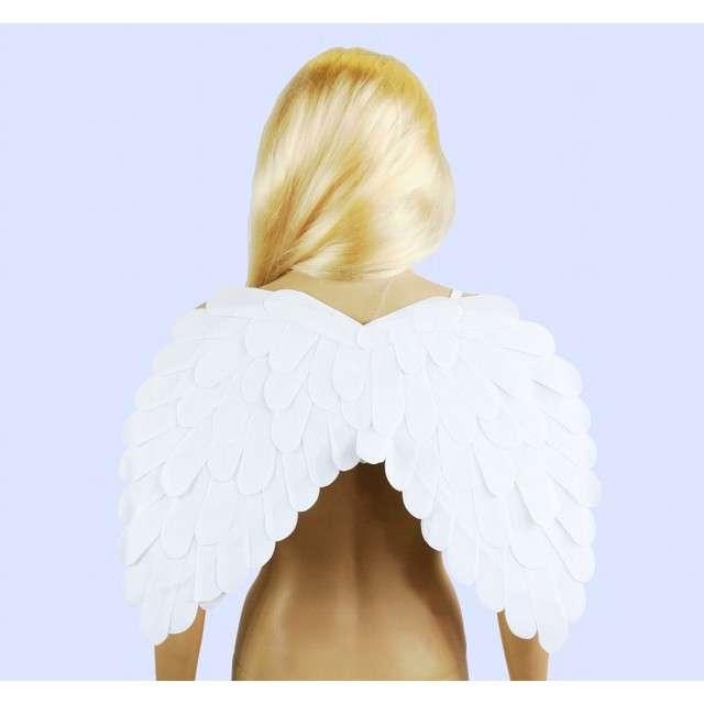 _xx_Skrzydła aksamitne białe 51x39 cm