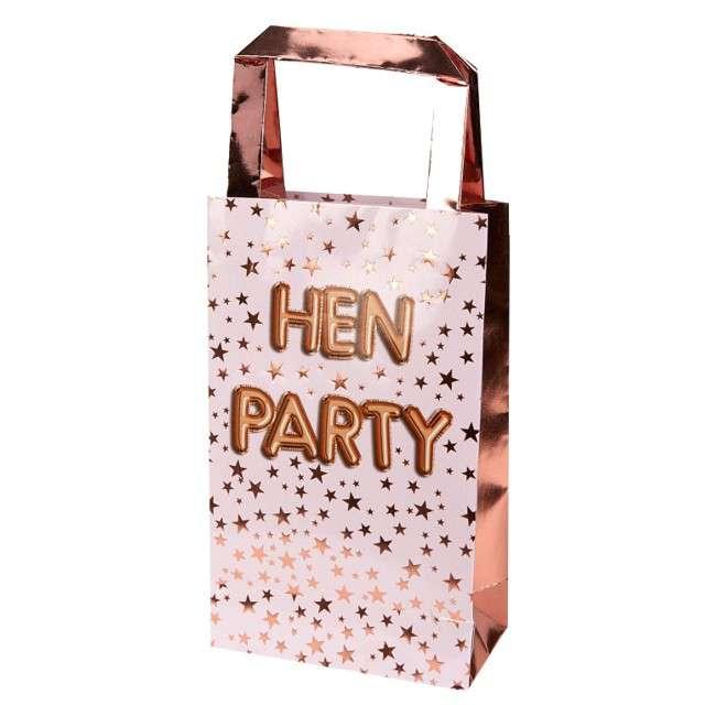 """Torebka prezentowa """"Glitz and Glamour - Hen Party"""", różowe złoto, Godan, 32 x 26 cm"""