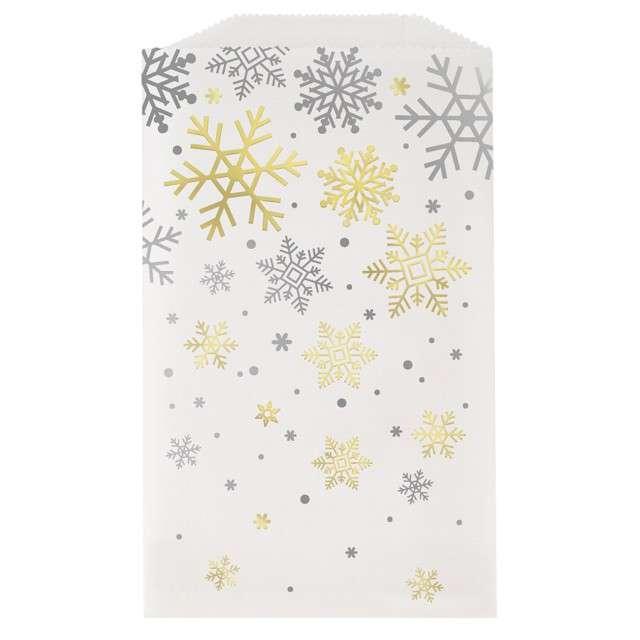 _xx_Torebki pelurowe na słodycze Płatki Śniegu 8 szt.