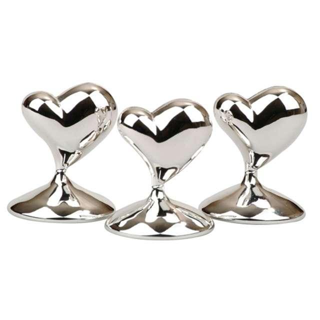 _xx_Uchwyt na winietkę Contemporary Heart srebrny 12 szt.
