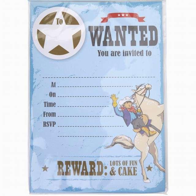 _xx_Zaproszenia WILD WEST COWBOYS 10 szt. KK