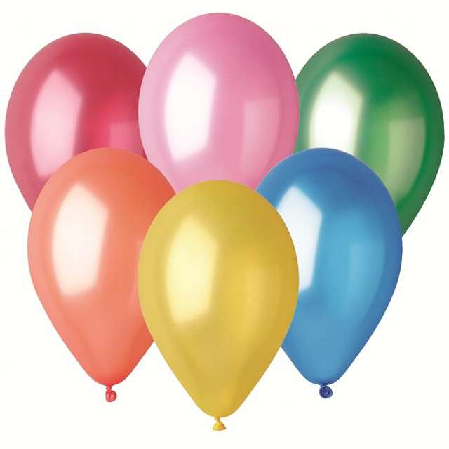 "Balony ""Classic"", mix metalik, Godan, 10"", 6 szt"