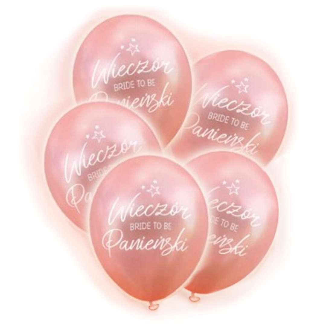 """Balony """"Wieczór panieński LED"""", różowe złoto, DekoracjePolska, 12"""""""