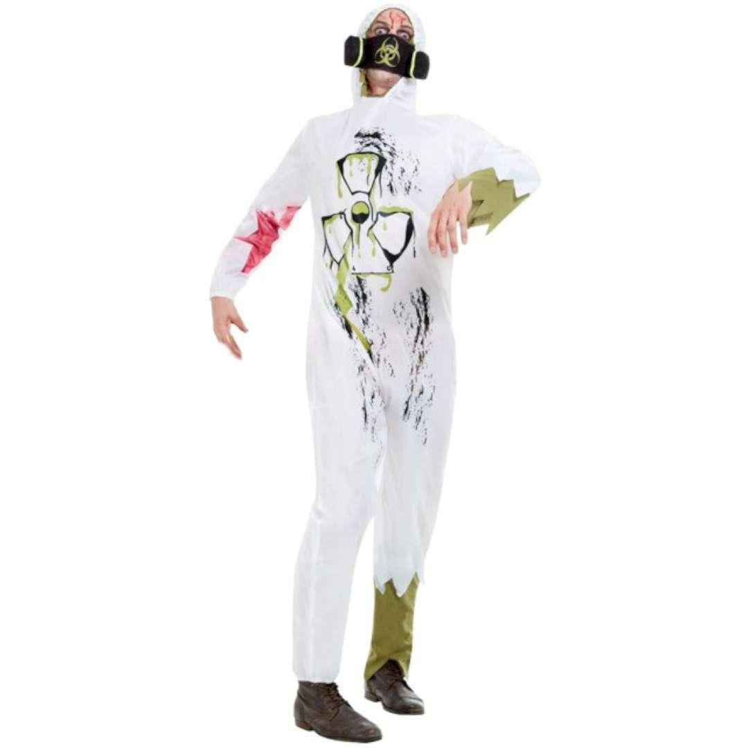 """Strój """"Zombie Biohazard"""", biały, Smiffys, rozm. L"""