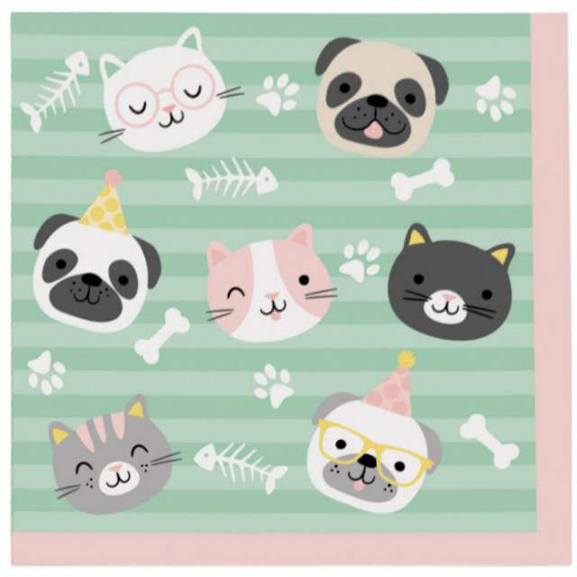 _xx_20 Napkins Hello Pets 33 x 33 cm