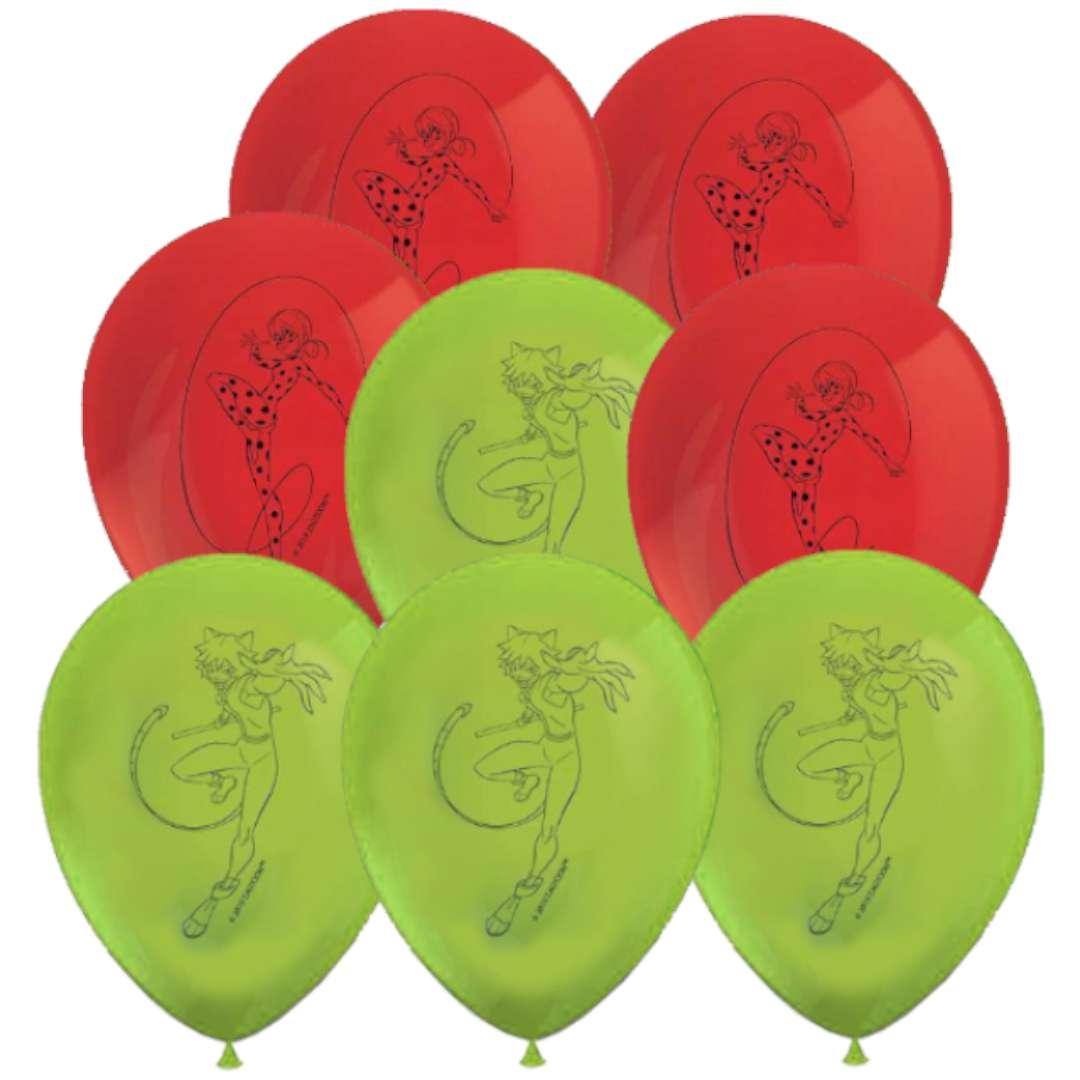 """Balony """"Miraculous"""", pastel mix, PROCOS, 11"""", 8 szt"""
