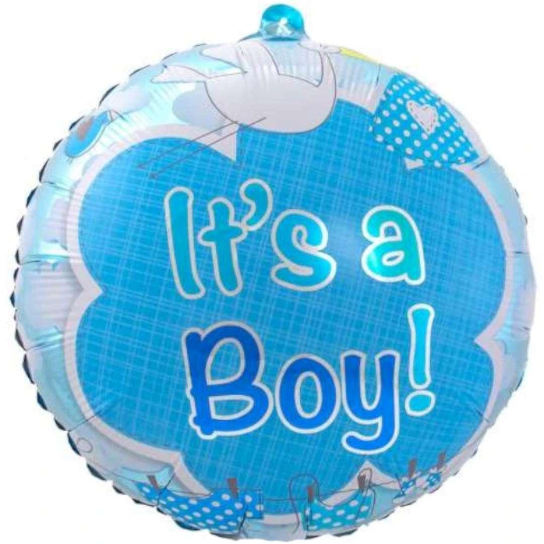 "Balon foliowy ""Its a boy"", niebieski, Folat, 17"""