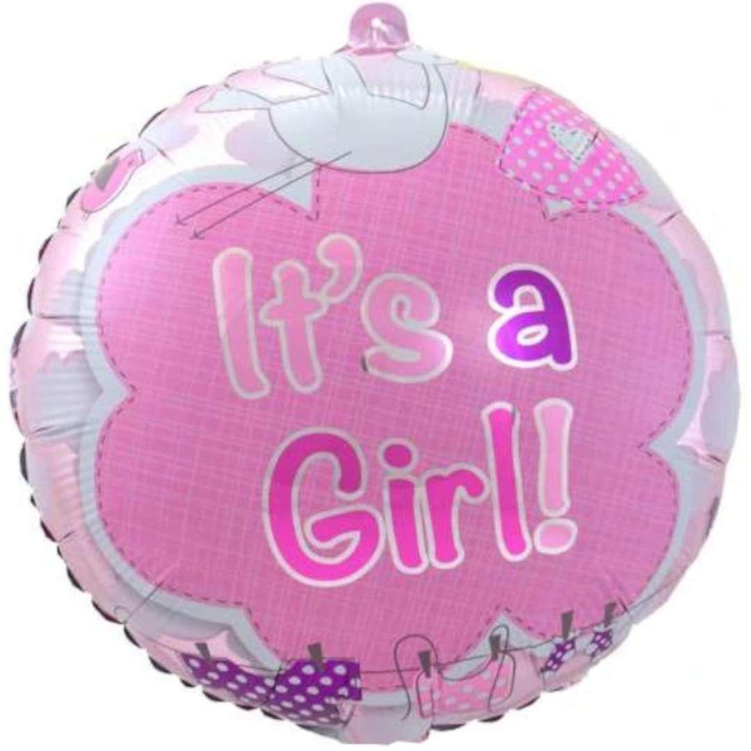 """Balon foliowy """"Its a Girl"""", różowy, Folat, 17"""""""