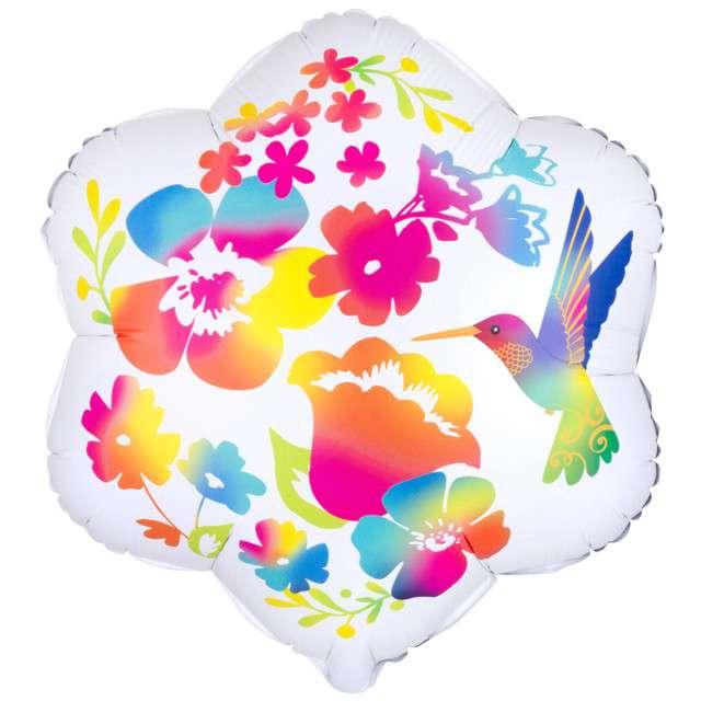 """Balon foliowy """"Kolorowe Kwiatki"""", Amscan, 15"""" SHP"""