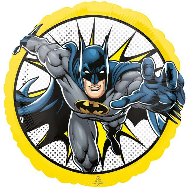 _xx_Standard Batman Foil Balloon S60 Packaged