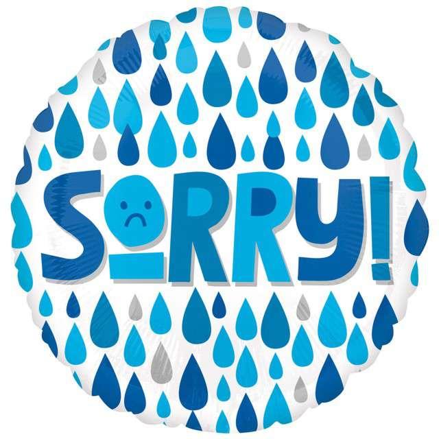 """Balon foliowy """"Sorry"""", Amscan, 17"""" RND"""