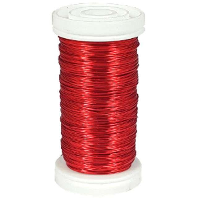 """Drucik florystyczny """"Classic"""", czerwony, Czakos, 0,35 mm, 100 m"""