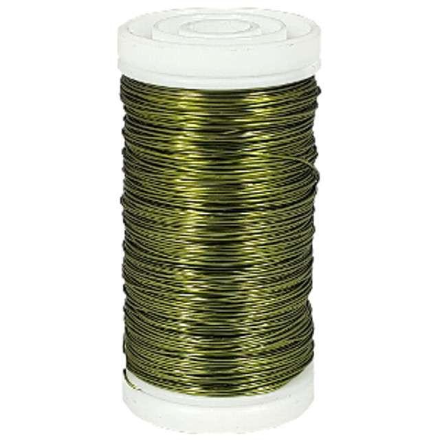 """Drucik florystyczny """"Classic"""", zielony oliwkowy, Czakos, 0,35 mm, 100 m"""