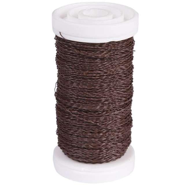 """Drucik florystyczny """"Karbowany"""", brązowy, Czakos, 0,35 mm, 100 m"""
