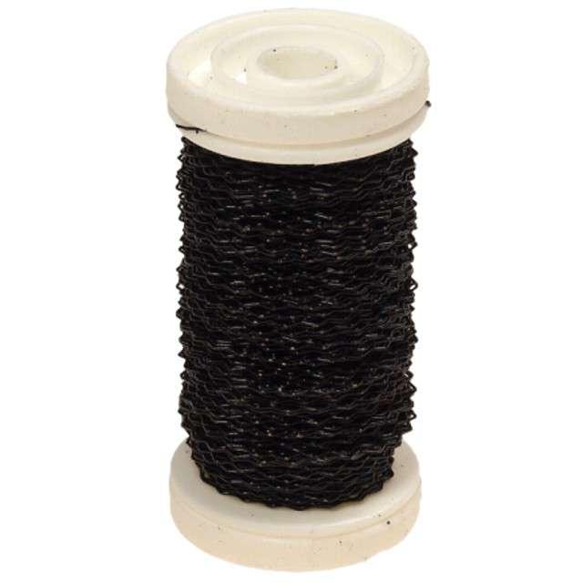 """Drucik florystyczny """"Karbowany"""", czarny, Czakos, 0,35 mm, 100 m"""