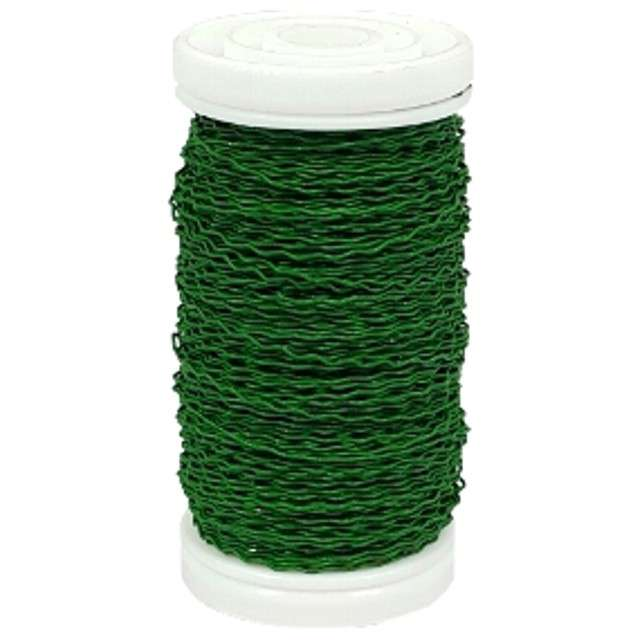 Drucik florystyczny Karbowany zielony Czakos 035 mm 100 m