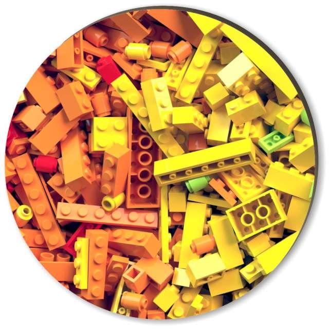 Podkładki drewniane Klock mozaika 6szt