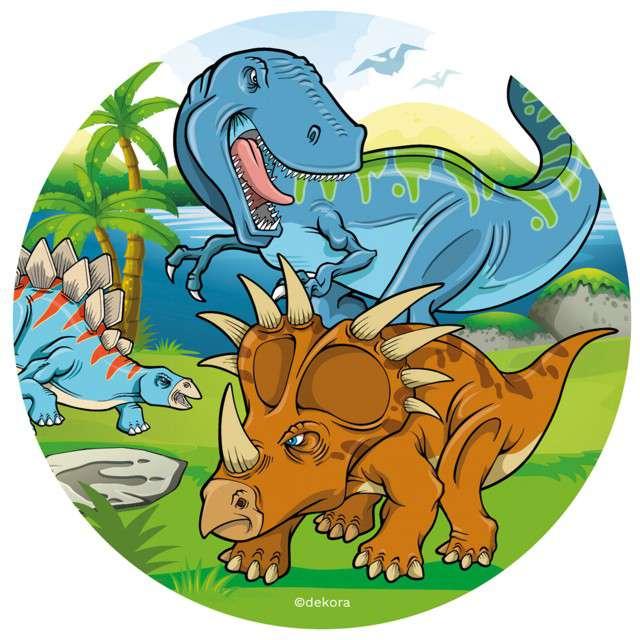 "Dekoracja tortu - opłatek bc ""Dinozaury"", 20 cm, Dekora"