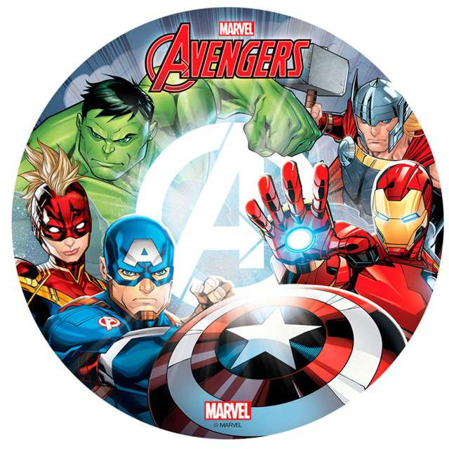 "Dekoracja tortu - opłatek bc ""Avengers"", 20 cm, Dekora"
